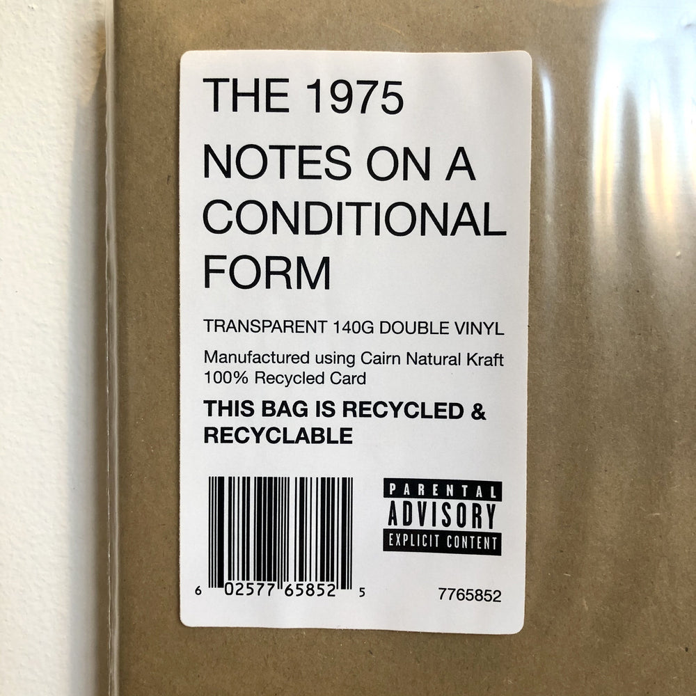 The 1975 - Notes On A Conditional Form. LP [Limited Indies-only Clear Vinyl Edition]