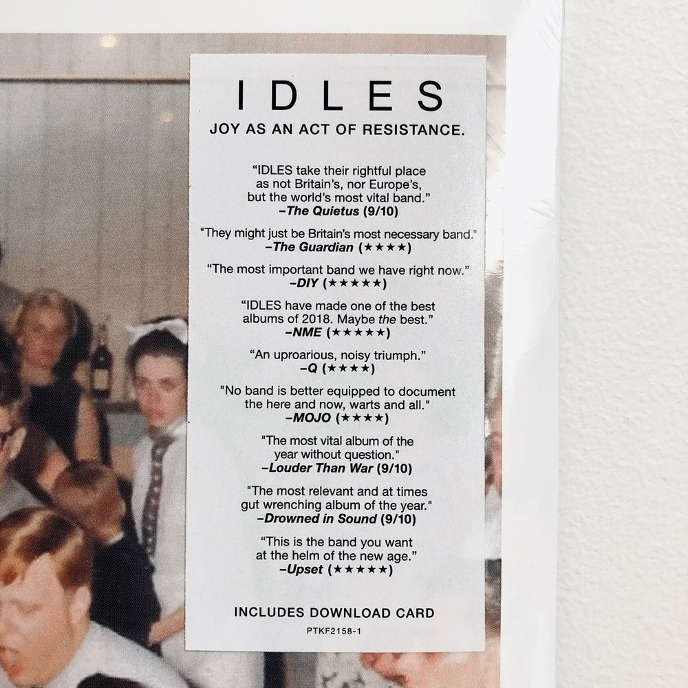 Idles - Joy As An Act Of Resistance. LP