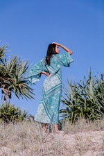 Golden Brown - Into The Mystic Kaftan in Teal - One Size
