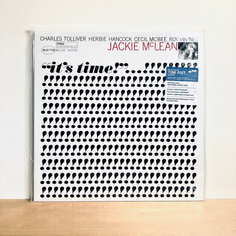 Jackie McClean - It's Time. LP [Tone Poet Series]