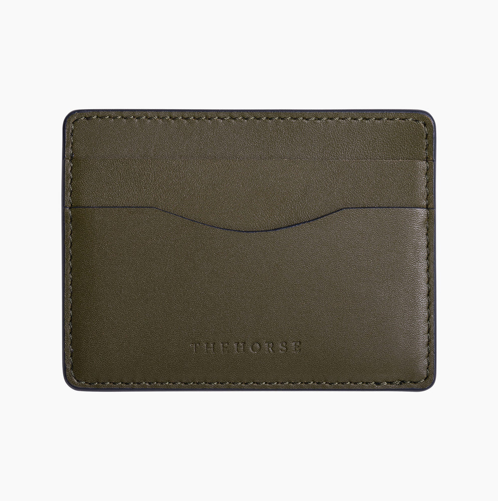 The Horse - Flatboy Card Holder in Olive
