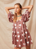 Kinga Csilla - Cuore Hemp Liberty Dress - Hearts