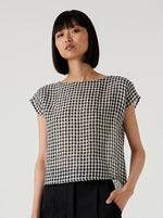 Kuwaii - Shell Tee in Gingham