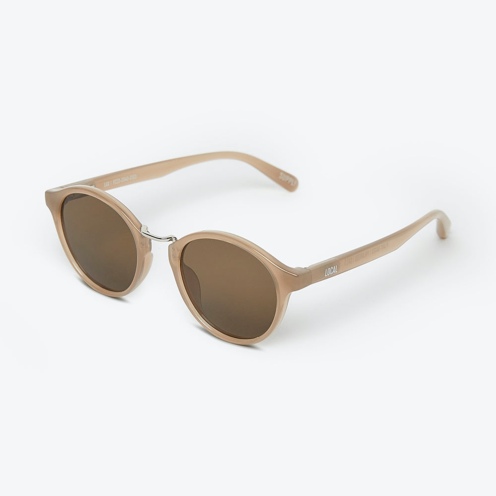 Local Supply - LAX - POLARIZED in Polished Sand w/ Dark Brown Lens