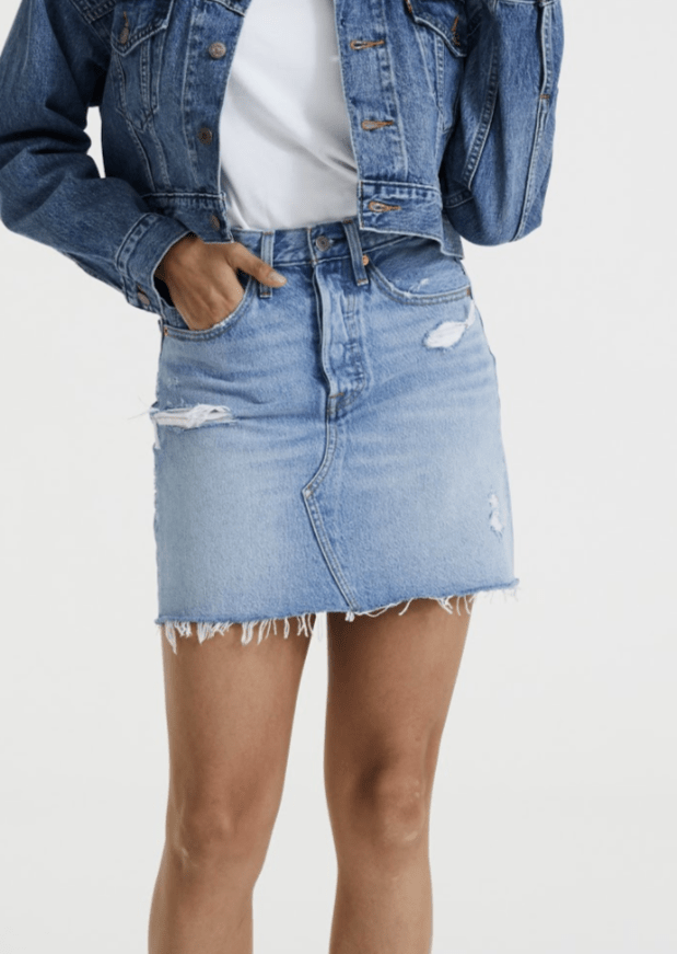 Levi's - High Rise Deconstructed Iconic BF Skirt in Left Behind