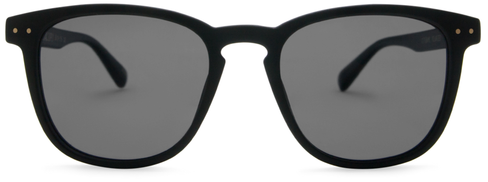 Local Supply - City Sunglasses in Matte Black with Dark Grey Lens