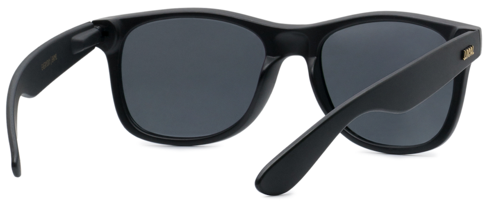 Local Supply - Everyday Sunglasses in Matte Black with Dark Grey Lens