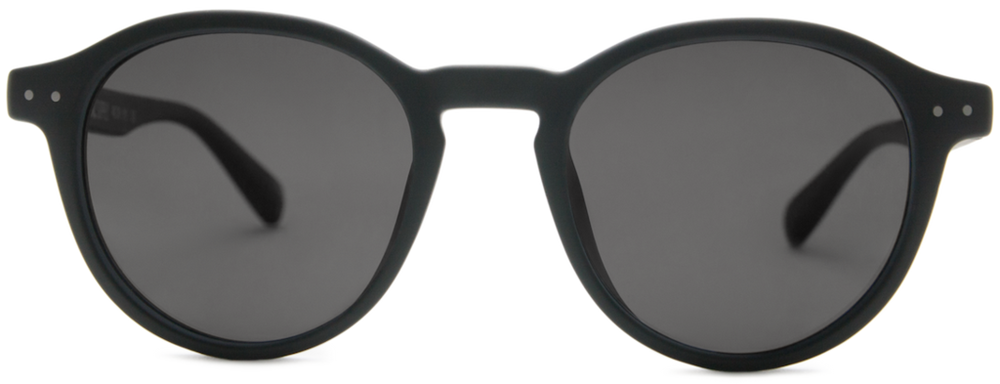 Local Supply - Station Sunglasses in Black Matte with Dark Grey Lens
