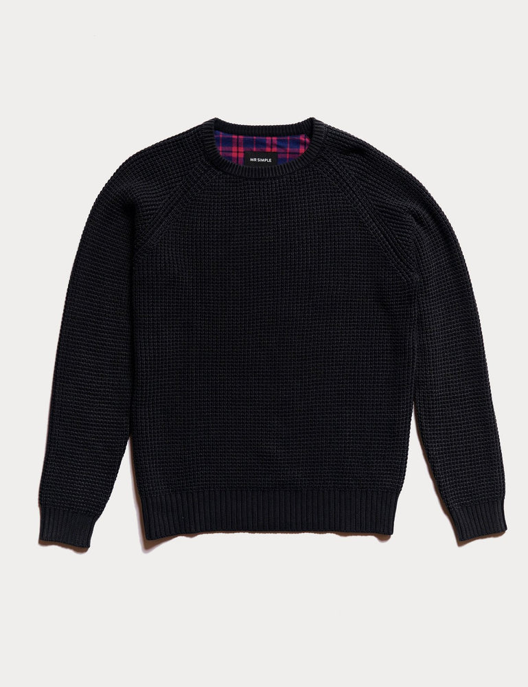 Mr Simple - Chunky Knit in Black