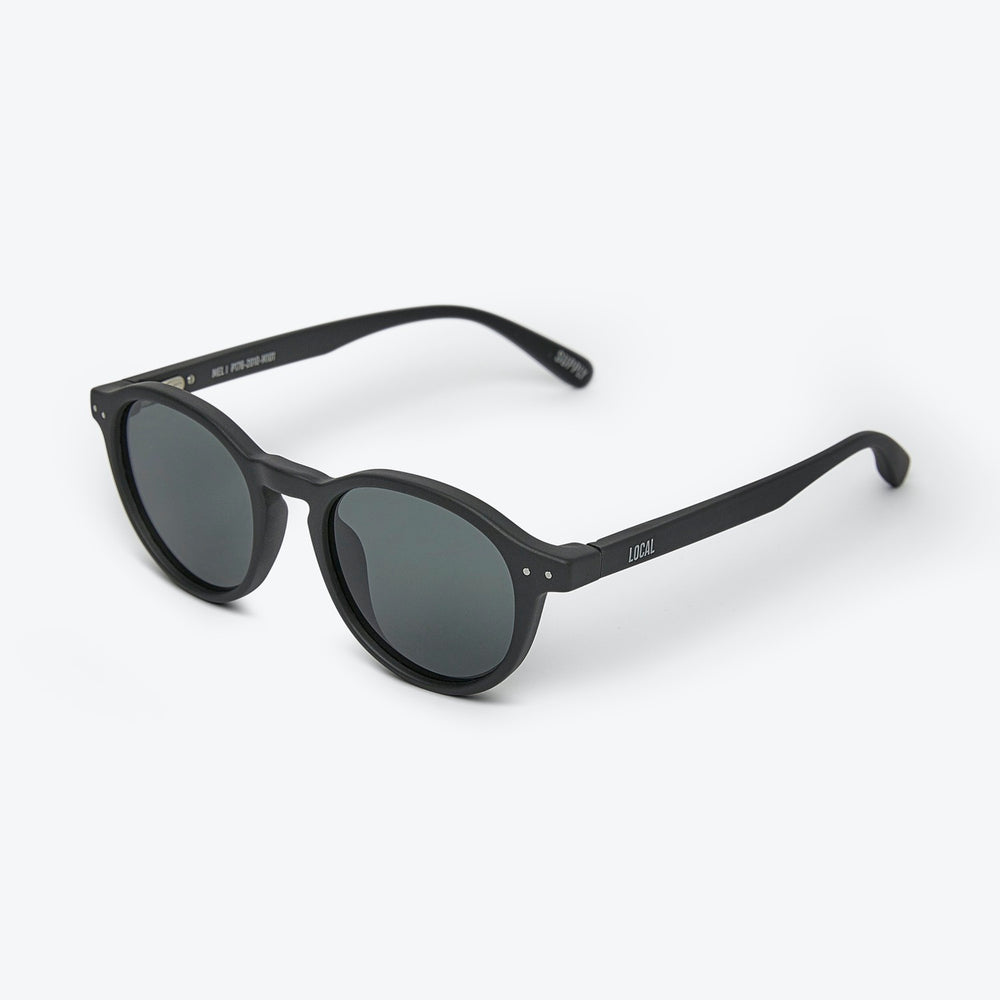 Local Supply - MEL - POLARIZED in Matte Black w/ Dark Grey Lens