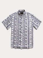 Mr Simple - BBQ Short Sleeve Shirt in Shibori