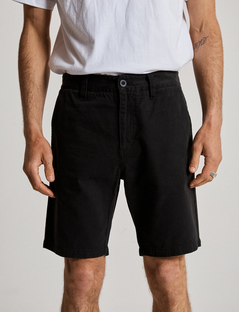 Mr Simple - Chino Short in Black