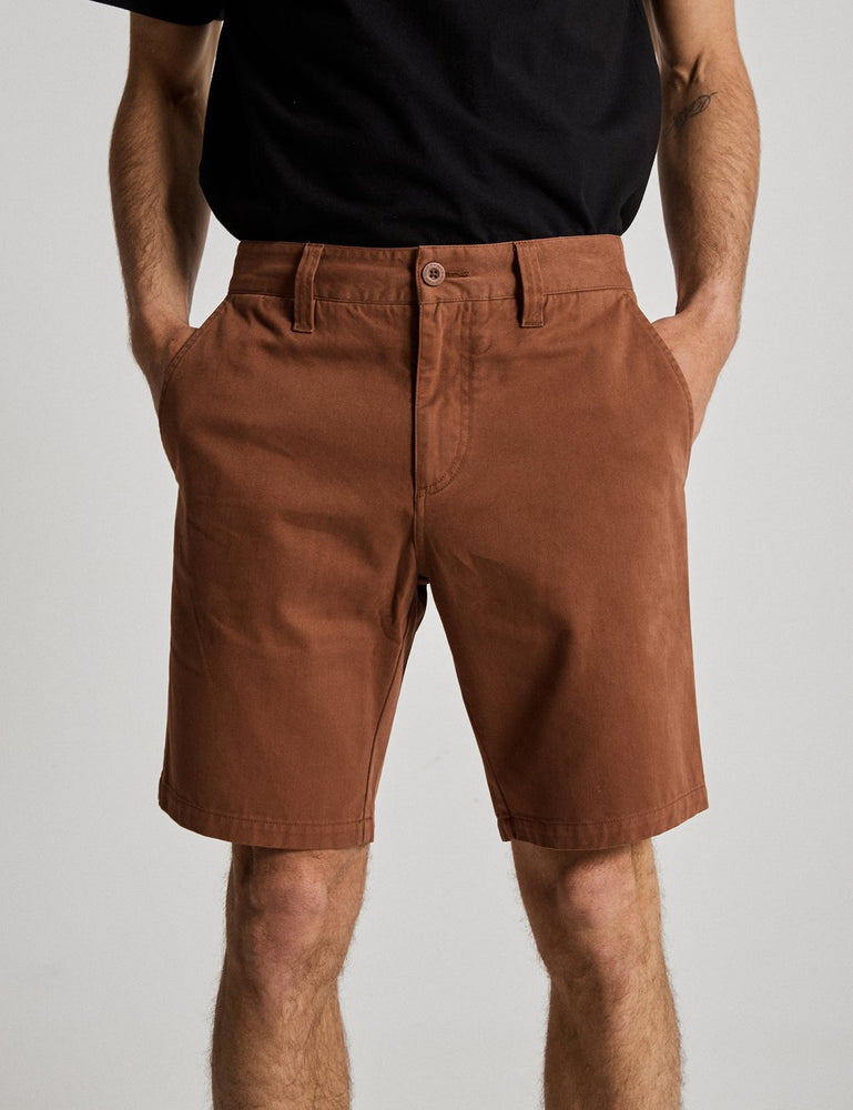 Mr Simple - Chino Short in Tobacco