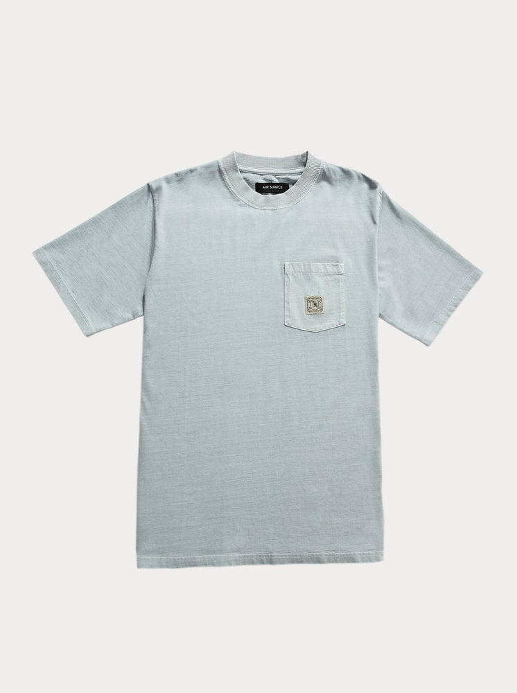 Mr Simple - Heavy Weight SS Pocket T in Washed Mist