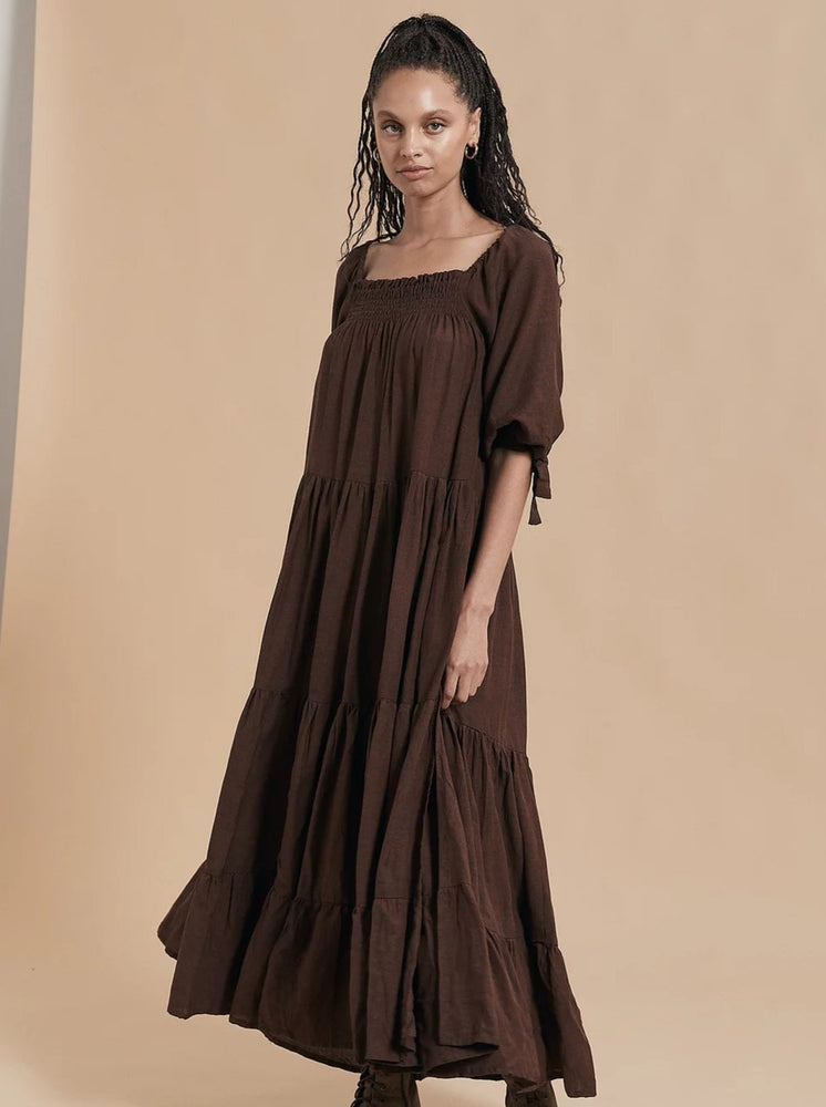 Opia - Ophelia Maxi Dress in Chocolate