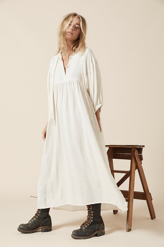 Opia - Billie Maxi Dress in Natural Texture