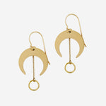 Petite Grand - Crest Earrings in Gold