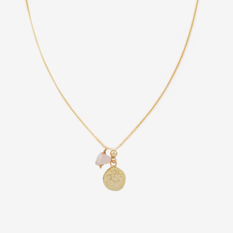 Petite Grand -  Rose Necklace in Gold