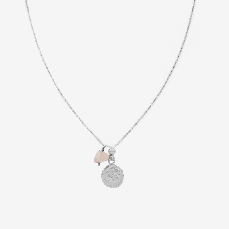 Petite Grand - Rose Necklace in Silver