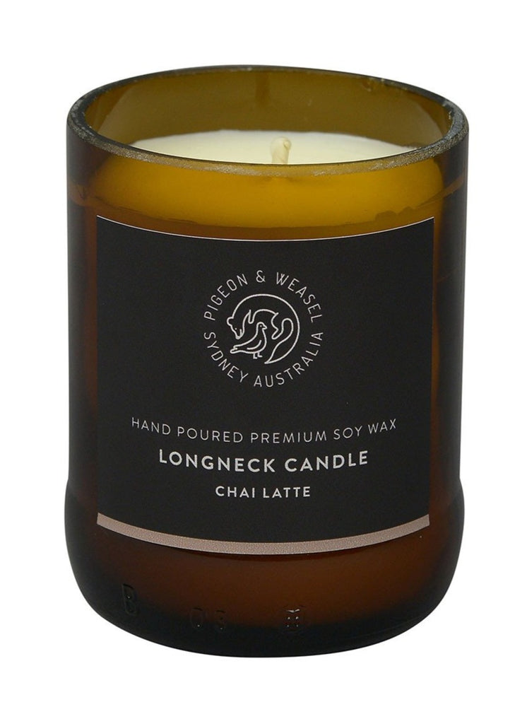 Pigeon & Weasel - Longneck Candle, Chai Latte