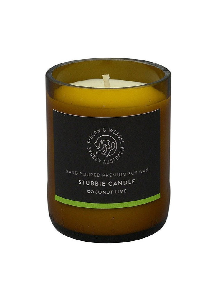 Pigeon & Weasel - Stubbie Candle, Coconut Lime,
