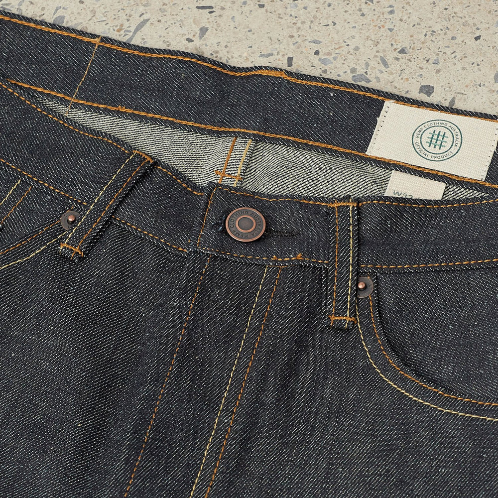Hemp Clothing Australia - Selvedge Denim Jeans - Blue/Black Indigo Selvedge