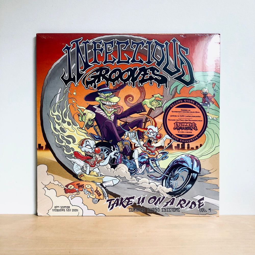 RSD DROPS 3 - Infectious Grooves - Take U On A Ride. Ep. [Ltd Ed. Transparent Orange Vinyl]