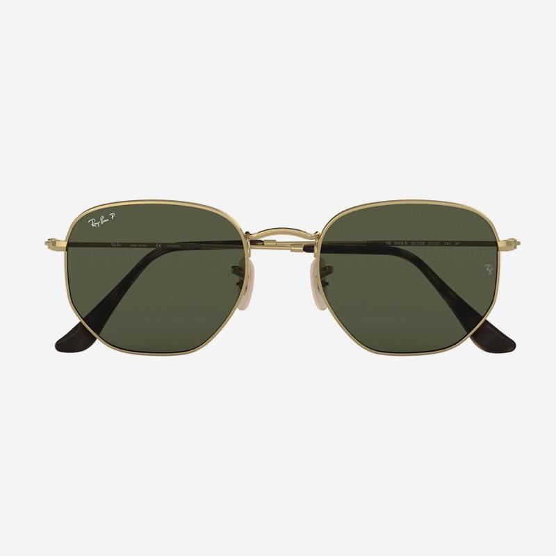 Ray-Ban, Hexagonal  Arista Gold w/ Green Classic G-15 Lens Lens. 0RB3548N-001/5851
