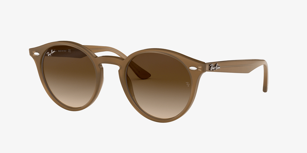 Ray-Ban - RB180 New Round in Light Brown w/ Brown Gradient Lense
