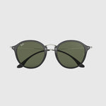 Ray-Ban - Round Sunglasses in Black w/G-15 Green Polarized Lens. 0RB2447F-901/5849