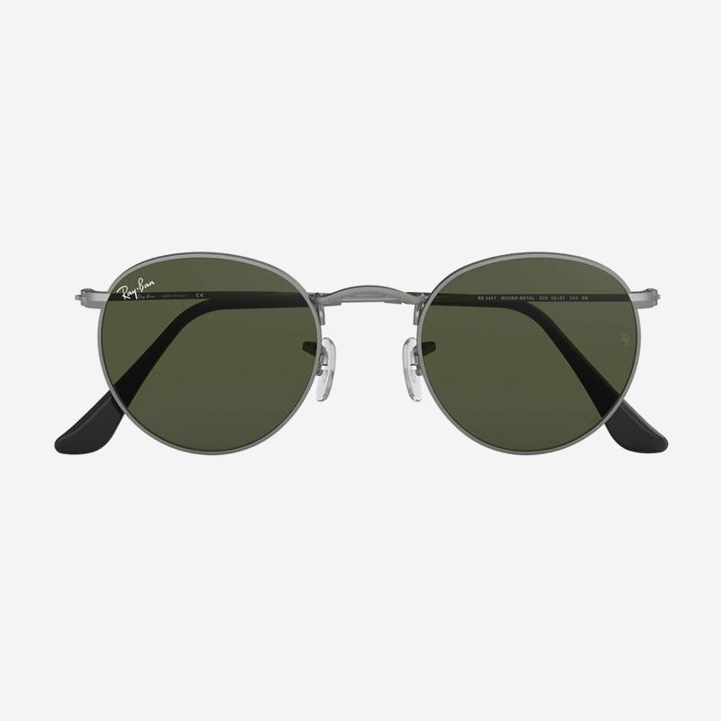 Ray-Ban - Round Metal Sunglasses in Gunmetal