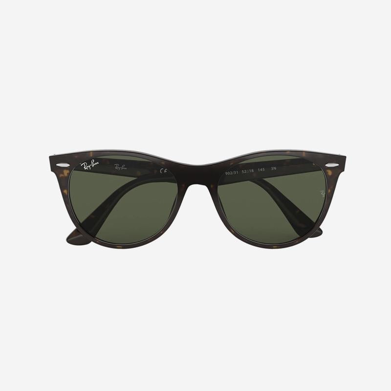 Ray Ban - Wayfarer II in Havana w/ Green Lens. 0RB2185 902/31 55-18
