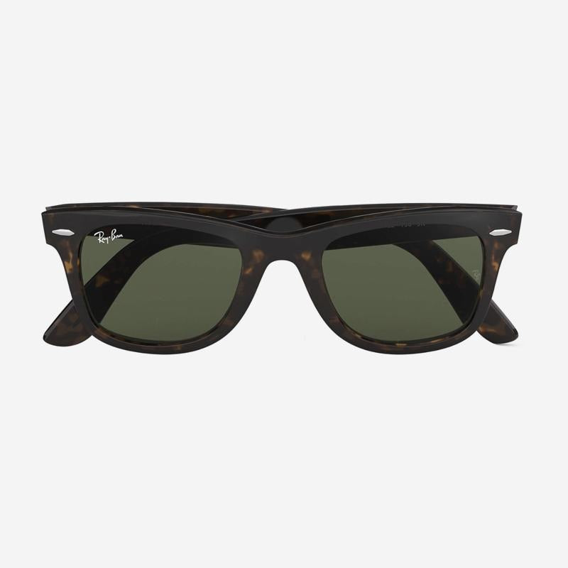 Ray-Ban - Wayfarer in Tortoise with Crystal Green Lenses