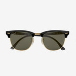 Ray-Ban - Clubmaster Sunglasses in Black w/Crystal Green Polarized Lens. 0RB3016/901/58-51