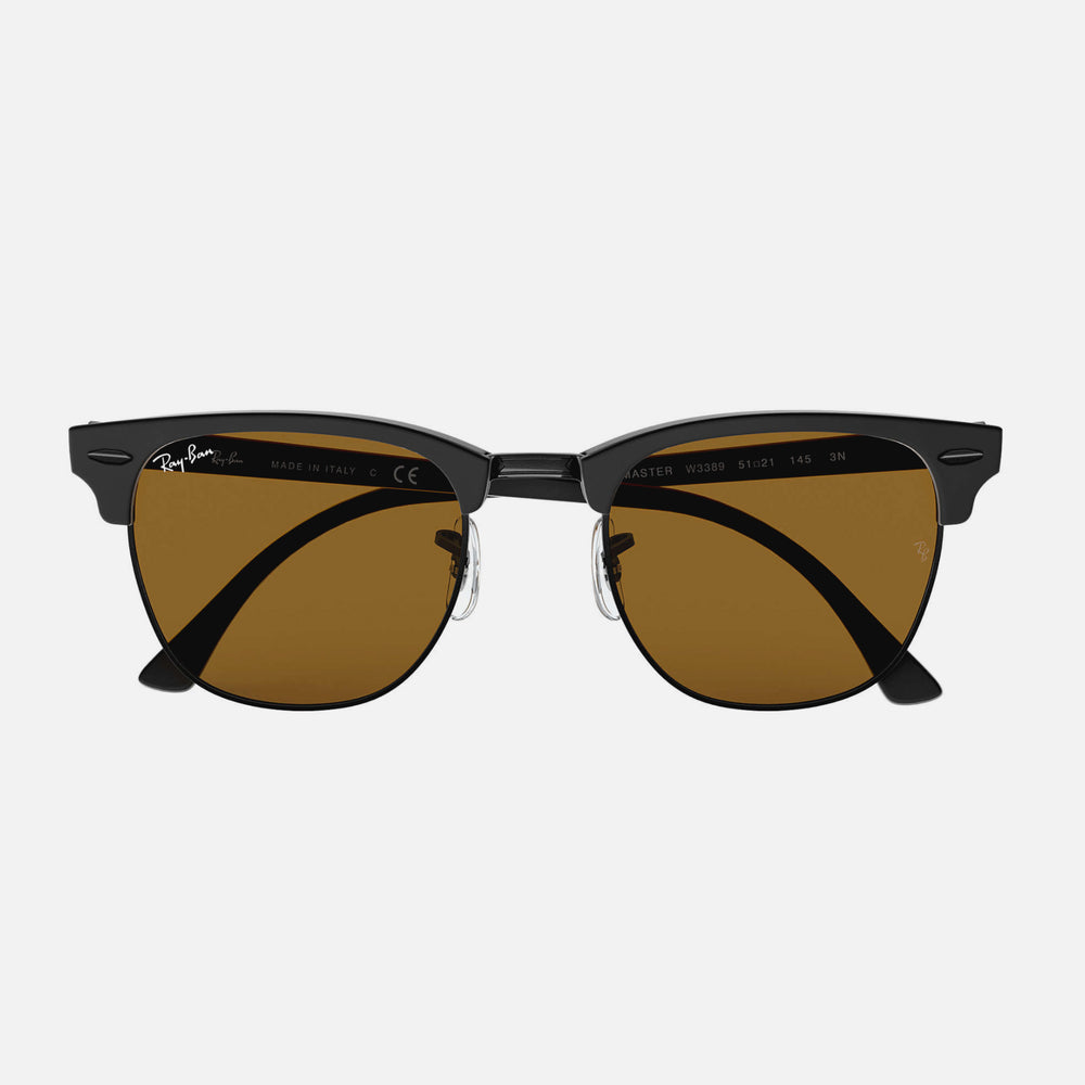 Ray Ban - Clubmaster Matte Black w/Brown