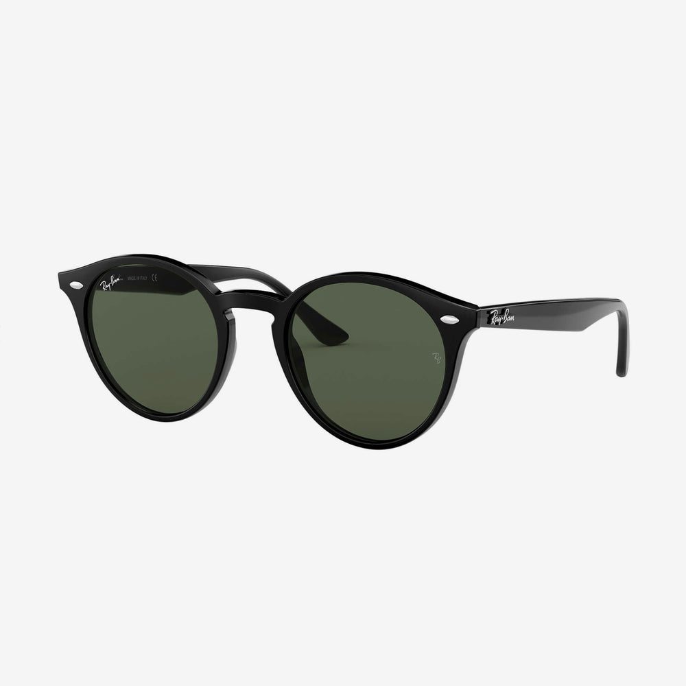 Ray-Ban - New Round in Black w/ Grey Green Lens. 0RB2180/601/7149