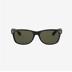 Ray-Ban - New Wayfarer - Black w/ Crystal Green Polarized.  0RB2132/901/58-55