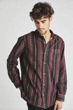 Rolla's - Men at Work Shirt in Cowboy Stripe Red/Black