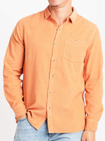 Rollas - Men At Work Cord Shirt - Rust