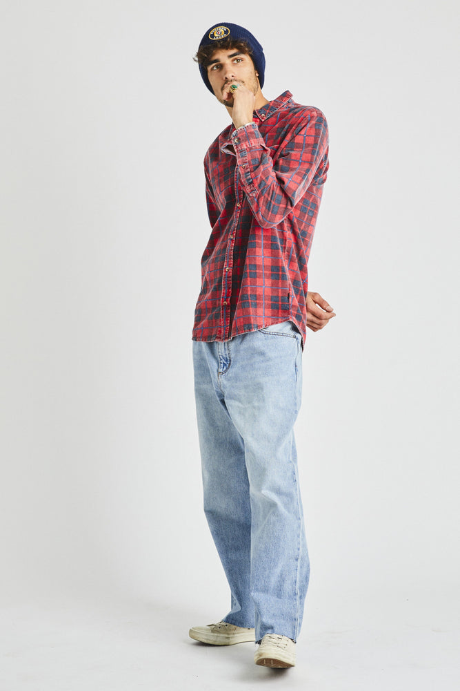 Rollas - Tradie Check Shirt in Red Earth Check