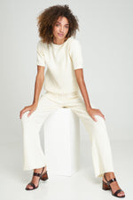 Rue Stiic - Faye Knit Pant in Off White