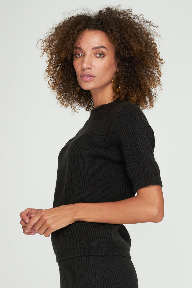 Rue Stiic - Jill Knit Tee in Black