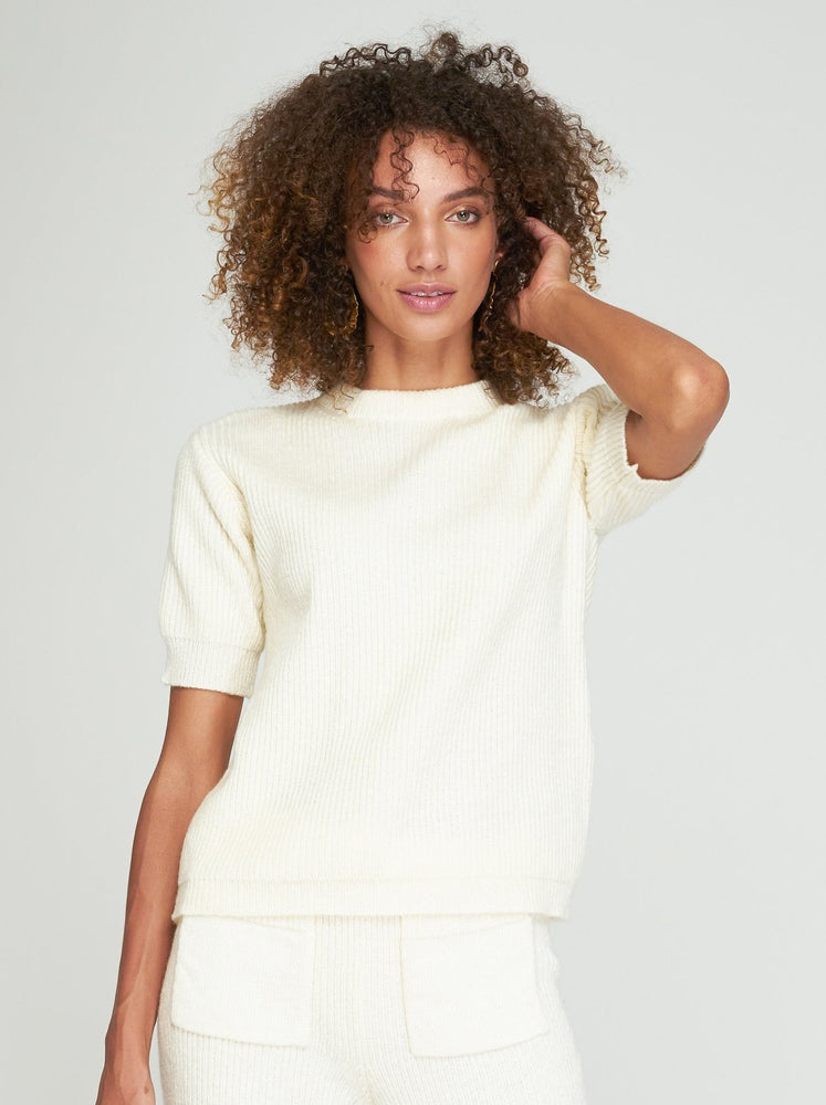 Rue Stiic - Jill Knit Tee in Off White