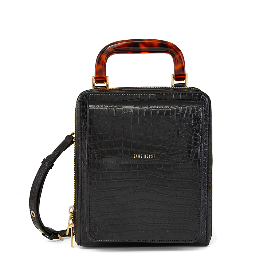 Sans Beast - Jane of all Trades bag in Noir Croco