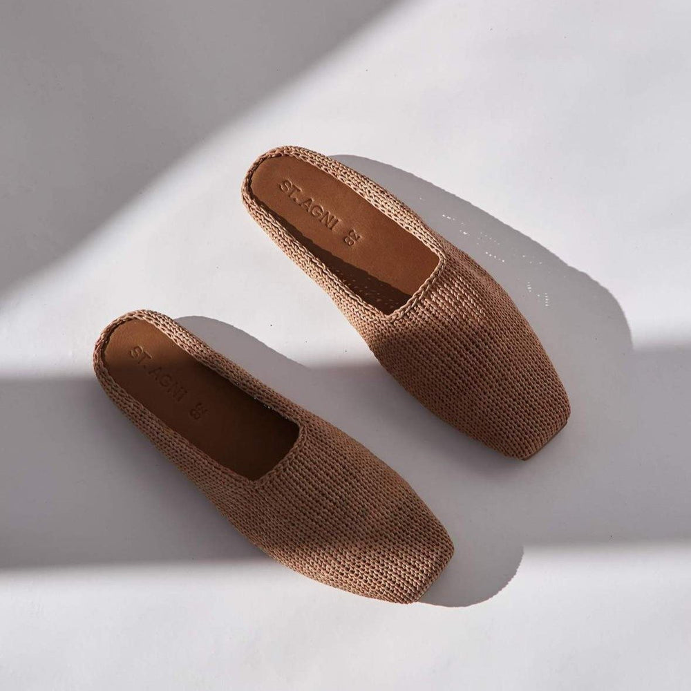 St. Agni - MAE Knit Loafer in Tan