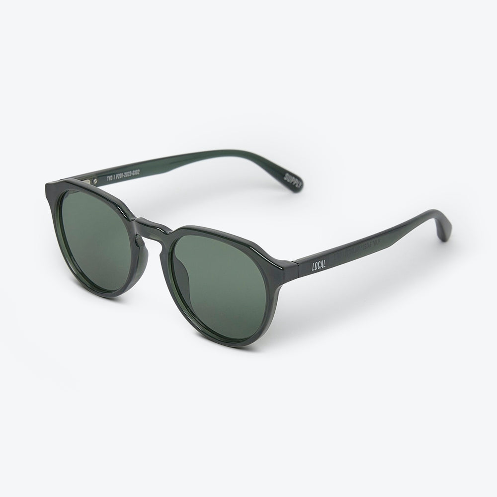 Local Supply - TYO - POLARIZED in Polished Forest w/ Dark Green Lens