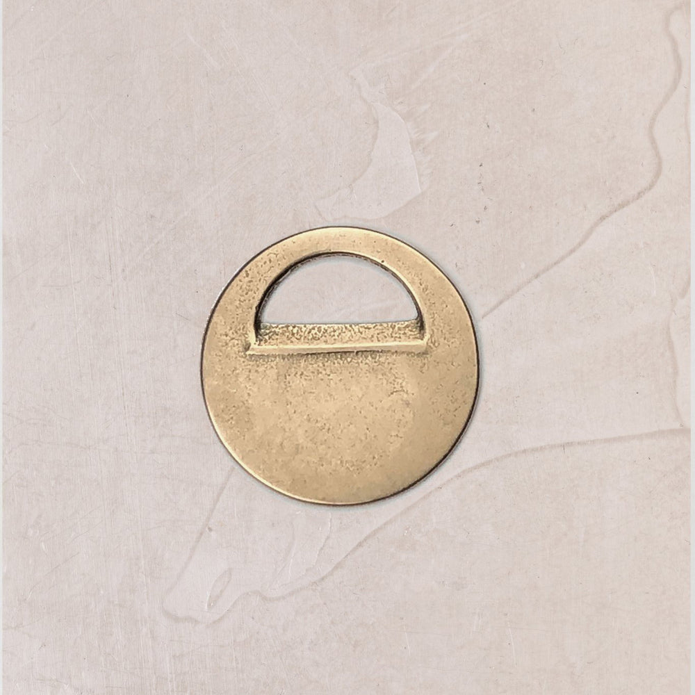 The Horse - Brass Bottle Opener #1  Circular Design