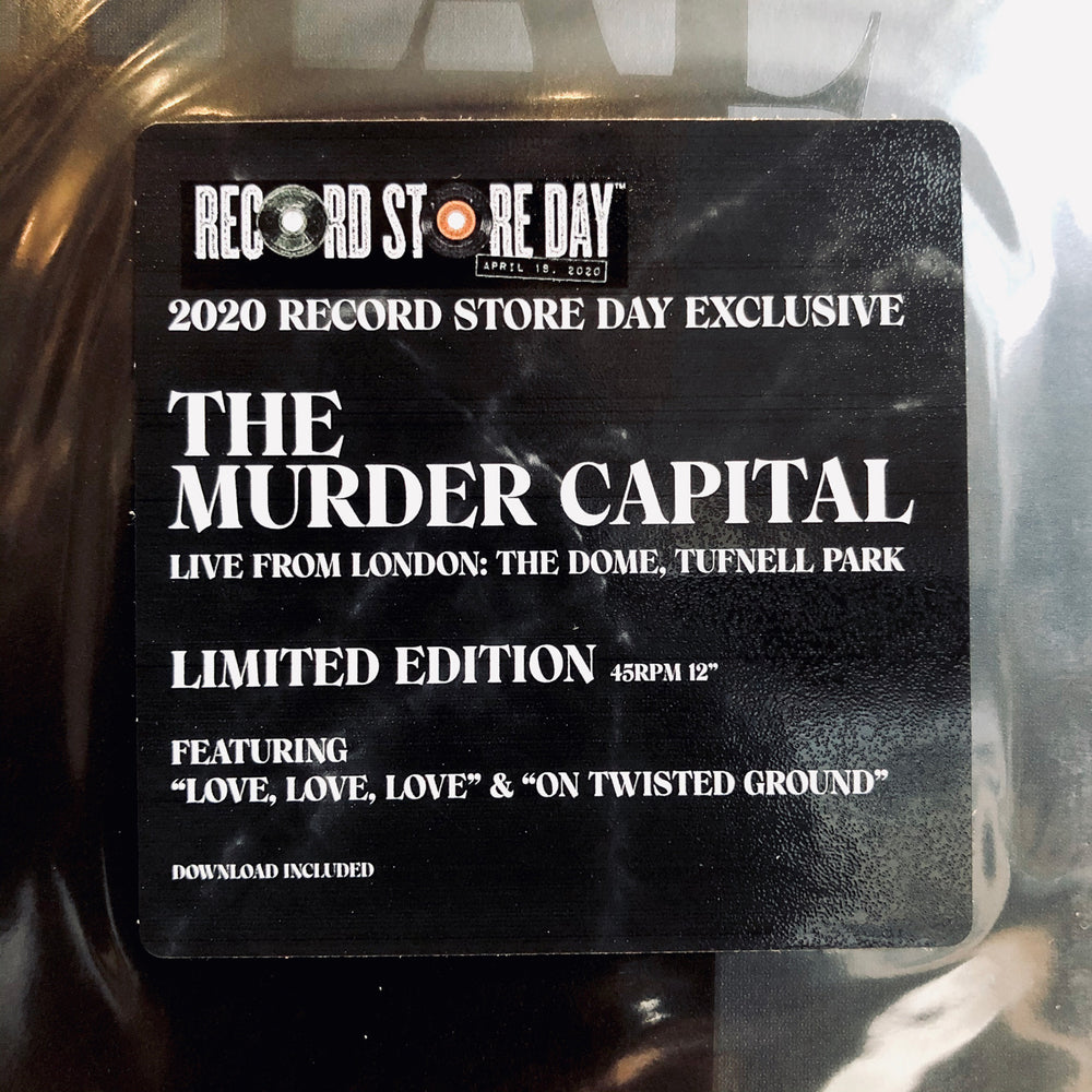 RSD DROPS 1 - Murder Capital - Live From London: The Dome Tuffnel Park. LP