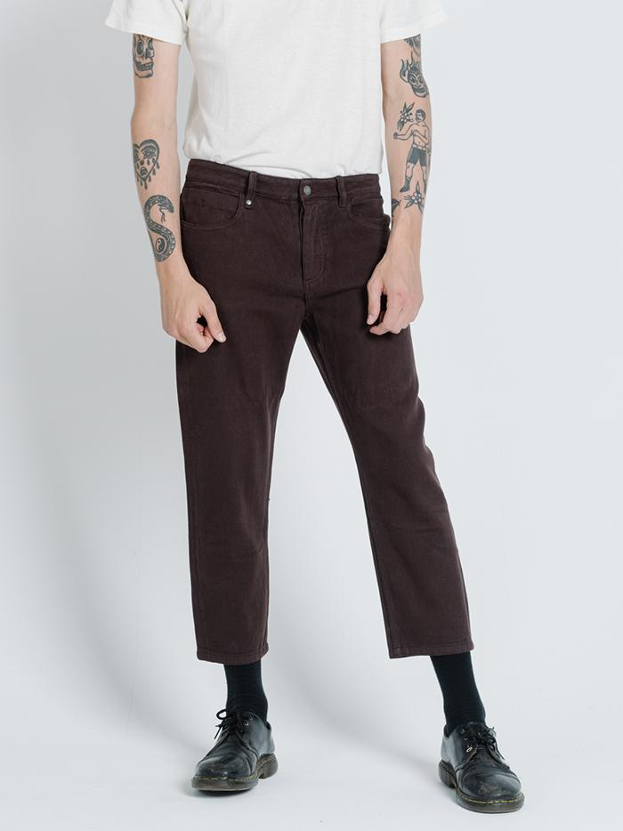 Thrills - Chopped Denim Jean in Postal Brown