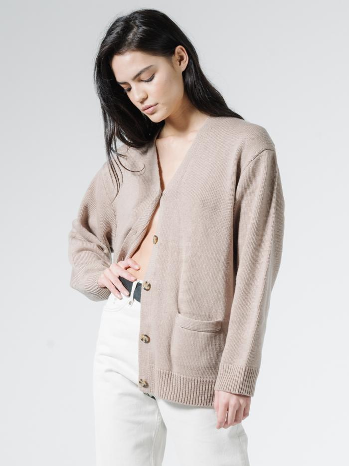 Thrills - Courtney Cardigan - Vintage Khaki